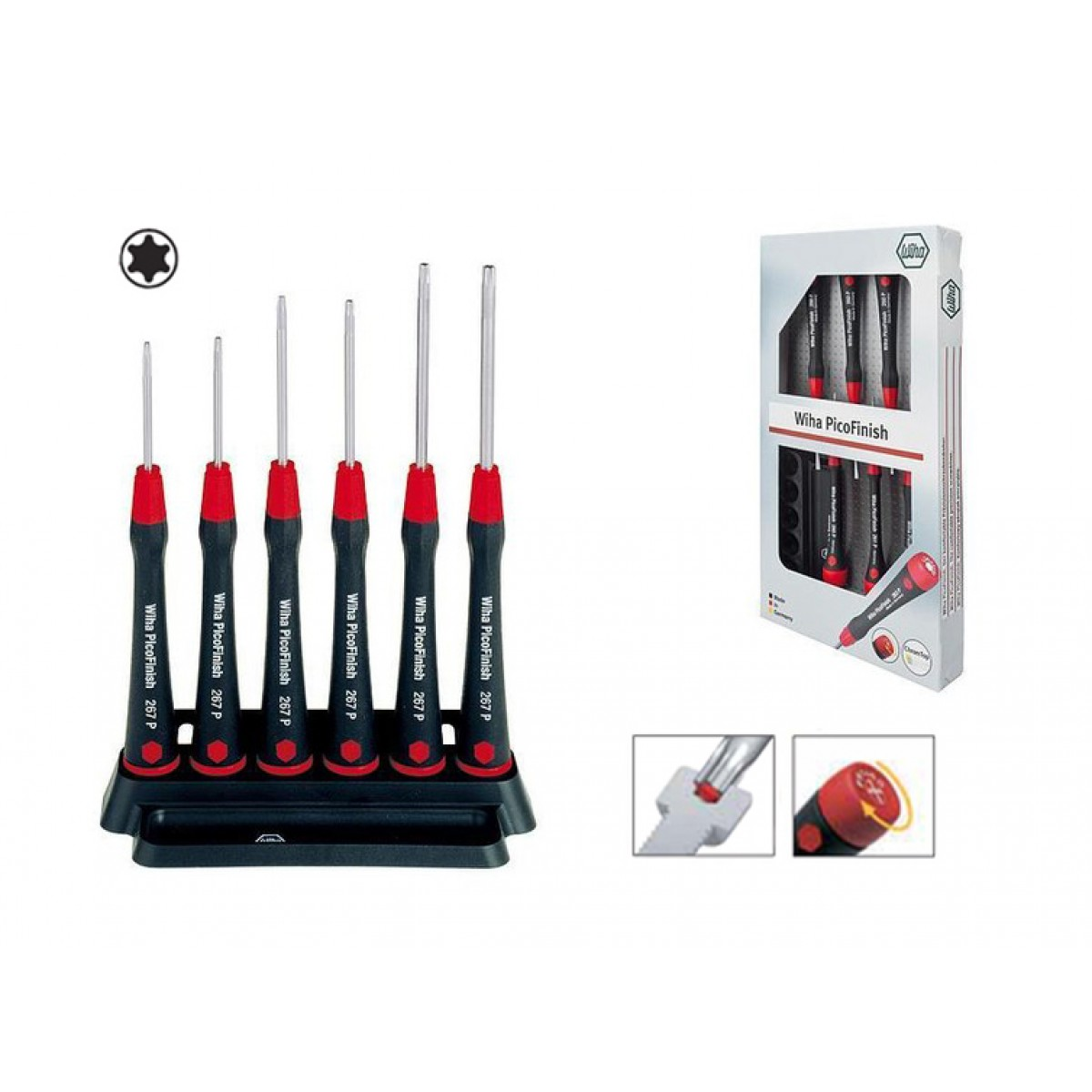 wiha 267p k6 picofinish torx screwdriver set 03765. Black Bedroom Furniture Sets. Home Design Ideas
