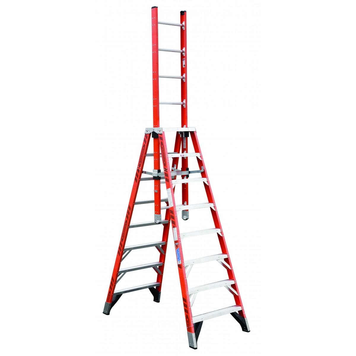 Werner Extension Trestle Ladder E7400 (8'-16