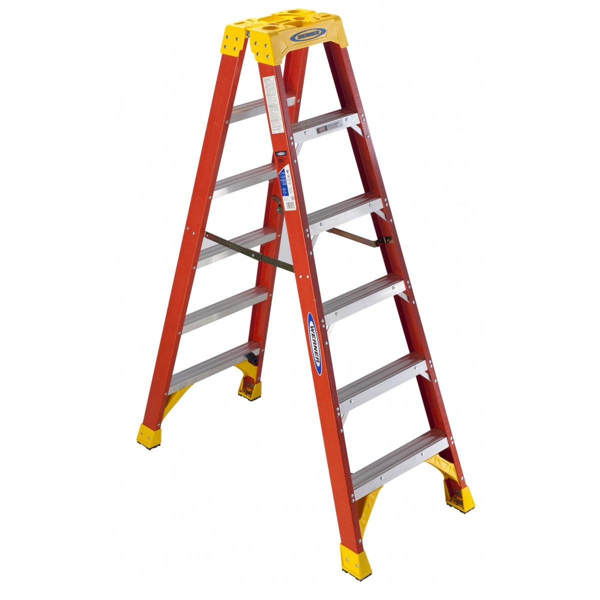 Werner Fg Twin Stepladder Type Ia 300lb T6200as Series