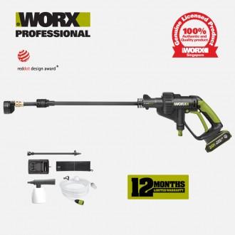 WORX WU629 Hydroshot Pressure Cleaner (4.0AH Set)