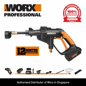 WORX 20V Cordless Hydroshot Portable Pressure Cleaner - WG629E (FREE Kimberly-Clark Safety Eyewear)