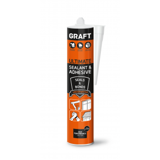 GRAFT ULTIMATE SEALANT & ADHESIVE (WHITE) / (CRYSTAL CLEAR)