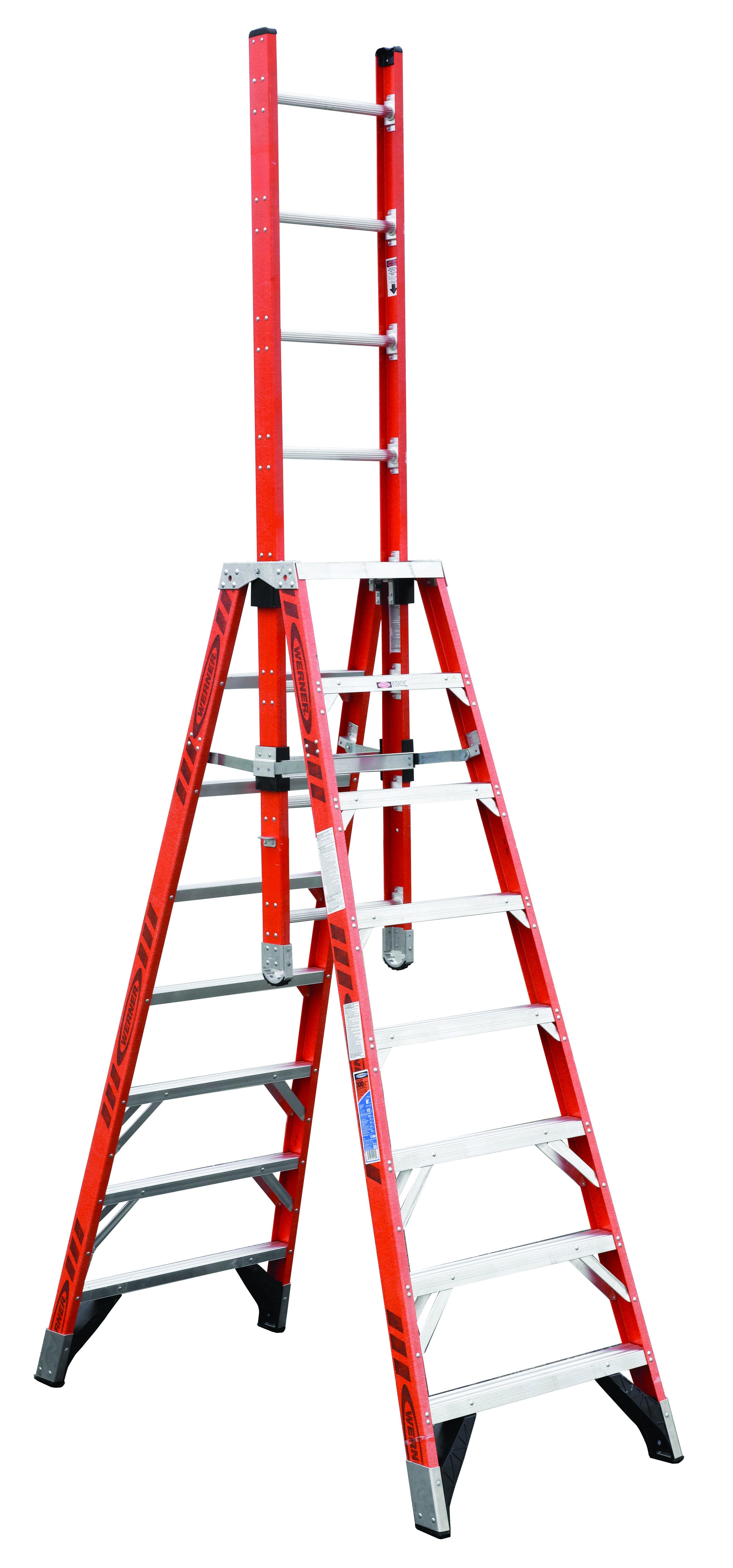 Werner Extension Trestle Ladder E7400 8 16