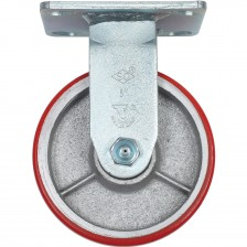 "HEAVY DUTY PU CASTER 5"" RIGID"