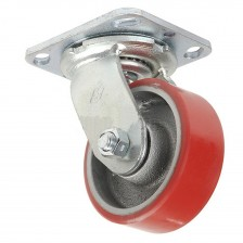 "HEAVY DUTY PU CASTER 4"" SWIVEL"