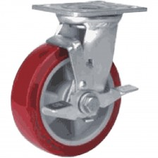 "HEAVY DUTY PU CASTER 4"" BRAKE"