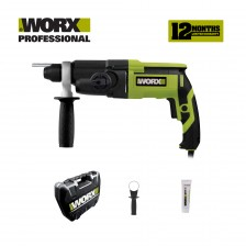 WORX ROTARY HAMMER 3 MODE 26MM 800W WITH ACCESSORIES (WU340P)