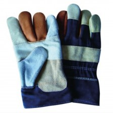 WORKER GLOVES (MIXED LEATHER) 10 (CH) (PAIR)