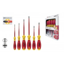 Wiha 3201SF-K6 SoftFinish® electric slimFix slotted/ Phillips screwdriver set (35389)