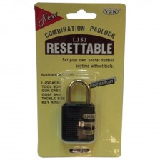 RESETTABLE COMBINATION PAD LOCK 341 (CH)