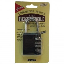 RESETTABLE COMBINATION PAD LOCK CL-17B (CH)