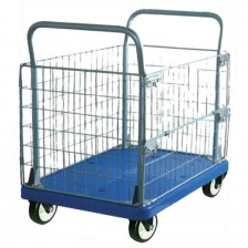MPP CAGED TROLLEY PU WHEEL 300KG MT300-AM1