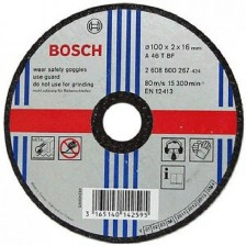 Bosch Cutting Disc 100x2x16mm (Part No : 2608603267)