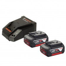 BOSCH STARTED KIT (1 CHARGER+2 BATTERY) 18V 4.0AH