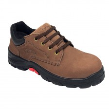 Aetos Lace-up Safety Shoe, Mocca Nubuck Leather COBALT