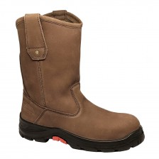 Aetos Pull-up Safety Boot Mocca Nubuck Leather Lithium