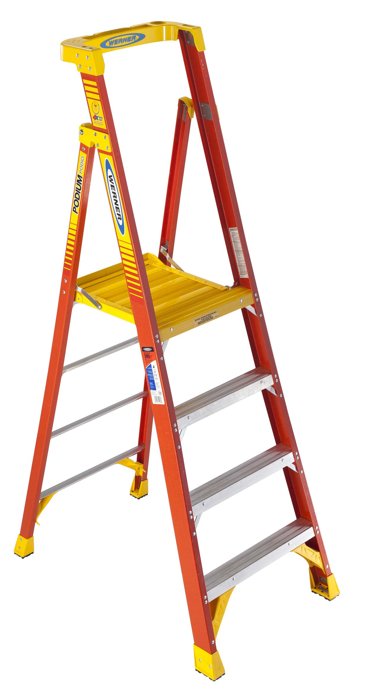 Werner Podium Ladder Pd6200 3 10