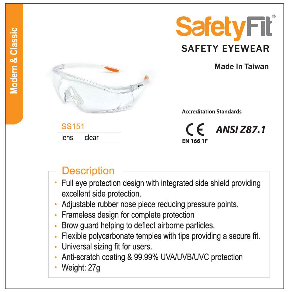 SafetyFit SS151 Product Spec
