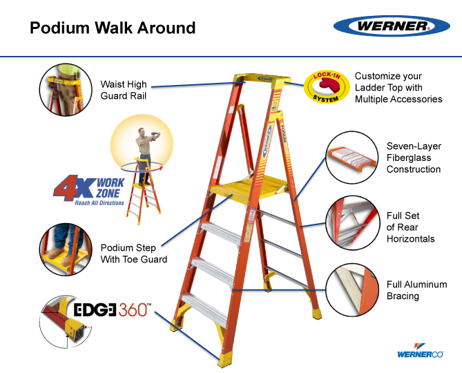 Werner Podium Ladder Pd6200 3 10