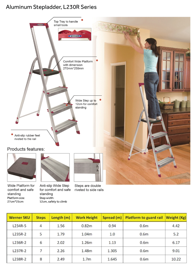 Alum Step Ladder L230 series Feature